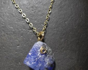 Tanzanite Pendant , Tanzanite crystal pendant necklace Tanzanite Bead Necklace Tanzanite Bead pendant 14kt gold fill setting
