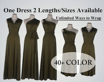 Olive bridesmaid dress long infinity dress short convertible  bridesmaid dress Olive green infinity dress long maxi dress wedding dress