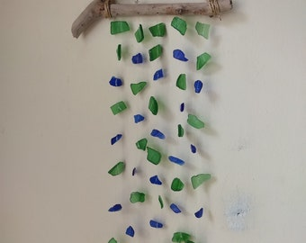 Blue and Green Seaglass Suncatcher