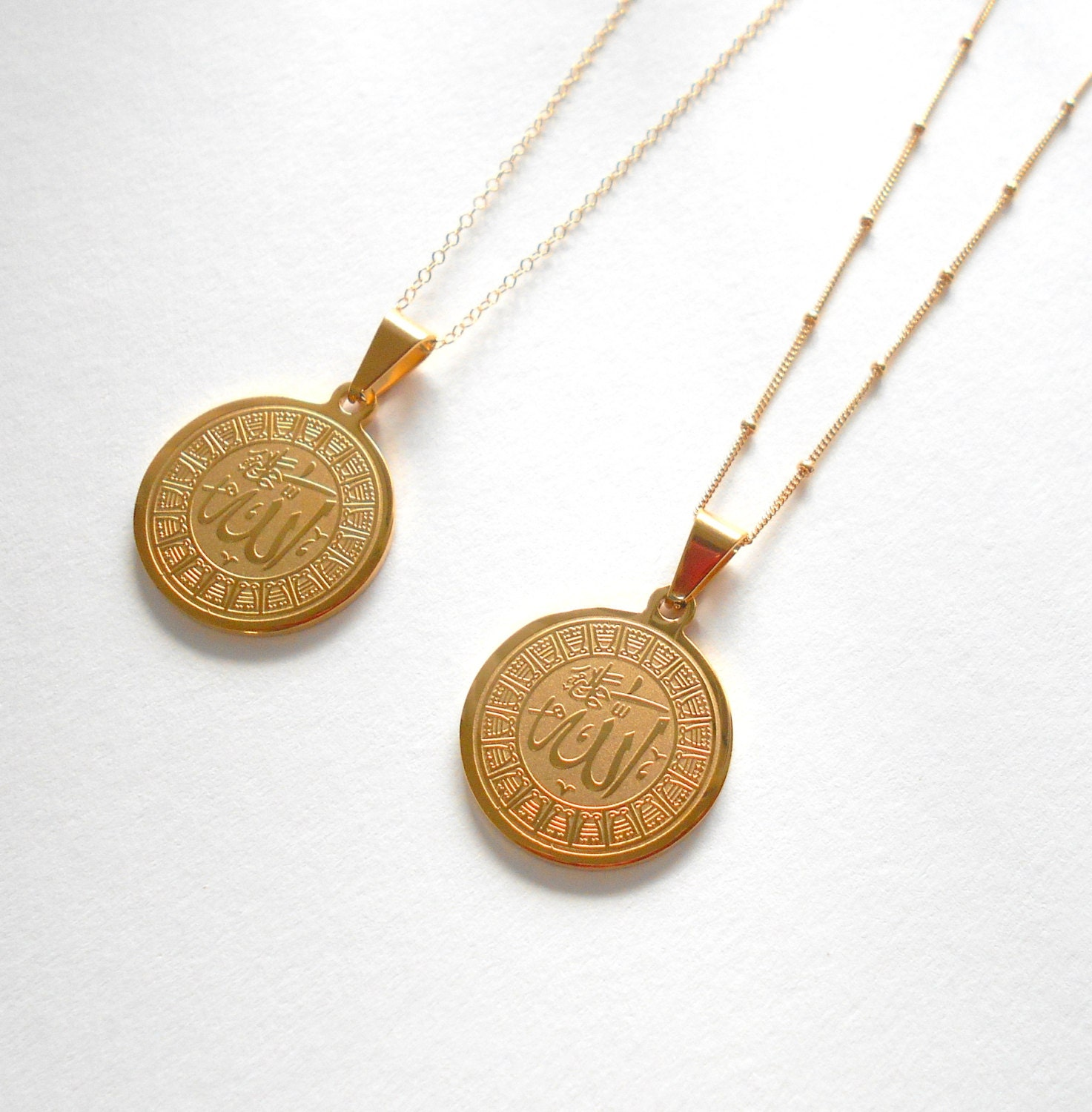 Allah necklace gold allah necklace disk necklace circle zoom aloadofball Choice Image