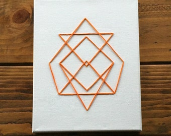 Canvas String Art - Otis Orange