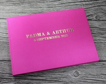 pink wedding guest book