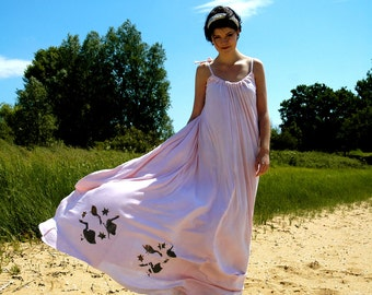Swan Star Pink Maxi Jersey Dress