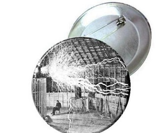 "1"" 1.25"" 2.25"" - Pinback Button - Nikola Tesla"