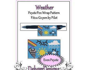Bead Pattern Peyote(Pen Wrap/Cover)-Weather