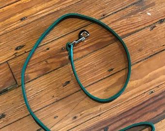 Leather leash. Jade. 4ft long.