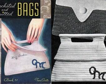 Bobine coton Co. livre 57 crochet & tricot sacs de 1940