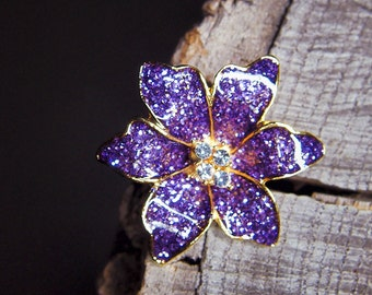 Tropical Orchid Brooch #5448