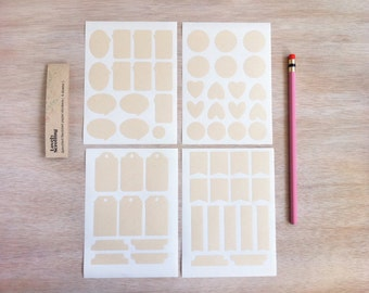 Recycled natural color paper (blank Stickers)