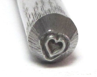 Micro Traditional Heart stamp teeny 2.5mm a darling size for small charms and earrings