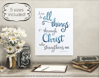 I can do all things I can do all things bible verse wall art scripture wall art scripture prints bible printable modern christian art