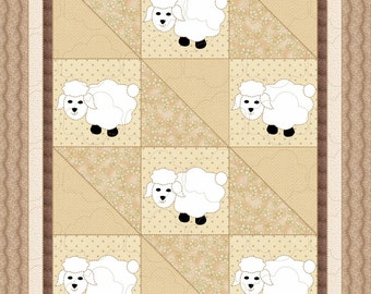 Sleepy Time Sheep Baby Quilt