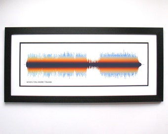 When You Were Young - Music/Song Sound Wave Art, Lyric Art Print Design