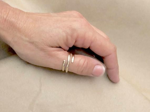 Gold Boho-Ring gold-Wickel-Ring Daumen Ringe für Frauen