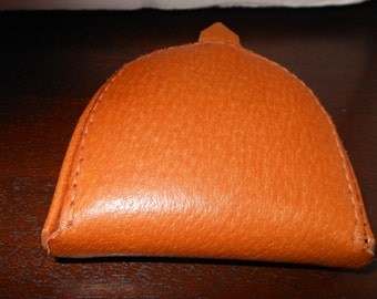 Leather Coin Purse/Leather Change Purse/Coin and Bill Purse/Hoof Style/Coin Purse Pigskin Hand Made Poland