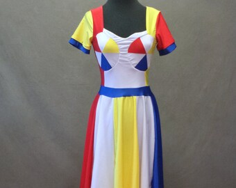 """MADE TO ORDER Katy Perry """"Beach Ball"""" Inspired Dress with Sleeves"""
