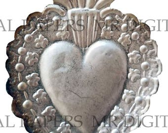 Ex Voto Sacred Heart / Sacred Heart Reliquary / Sacred Heart Jesus / Sacred Heart Download / Sacred Heart / Sacred Heart Milagro / Milagro