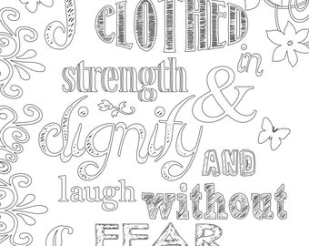 Bible coloring page Etsy