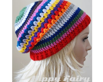Womans patterned slouch beanie