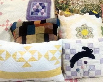 His Tweed Wool Suit Pillow, Her Old Quilt Pillow. Memory Keepsake Pillow, Baby Blankie Pillow, Grandpa Shirt Pillow. Family Heirloom Pillow