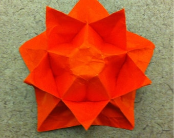 Paper dragonorigami sculptures by paperdragonsculpture on etsy double sided origami star flower mightylinksfo Gallery