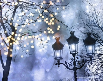 Paris Photography, Paris Winter Fairy Lights, Paris Sparkling Street Lights, Paris Lanterns, Paris Sparkling Magical Fairy Lights Lanterns