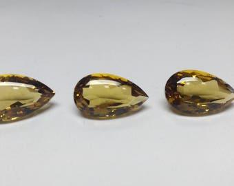 Honey Quartz Top Quality Pear Buff Top Shape