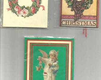 Vintage Christmas Gift Tags Three Never Used Packages ca. 1980s Lot # 43