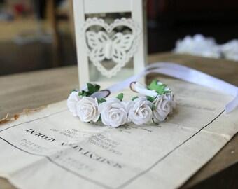 Rose adjustable Bun Wrap, Rose Bun Crown, Flower Bun Garland, Flower Hair Bun, Floral Bun Wrap, Flower girl hair accessory