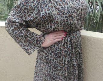 Vintage Leopard Raincoat