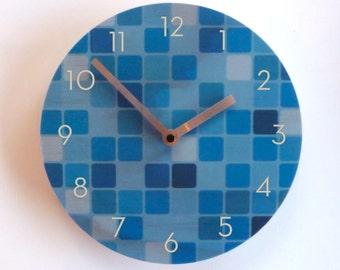Objectify Blue Mosaic Wall Clock - Medium Size