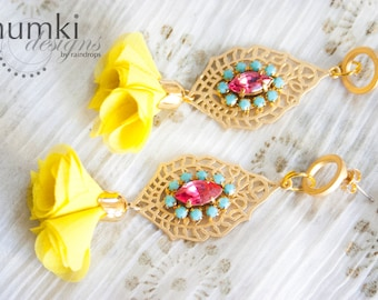 Suvarna /// Earrings by Jhumki Designs