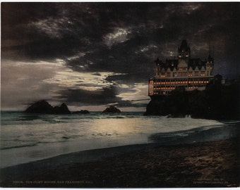 The Cliff House San Francisco Repro Poster Print