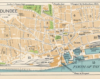 1959 Dundee Scotland Vintage map