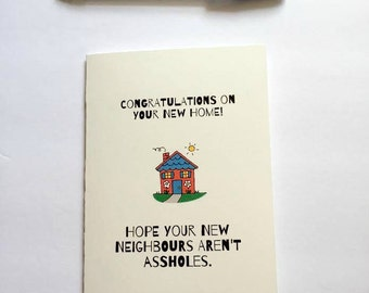 New Home greeting card - funny