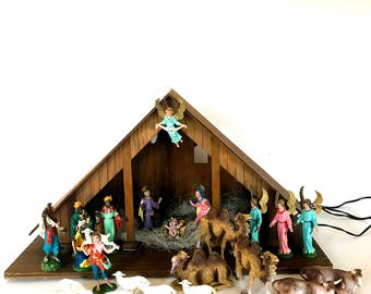 Vintage Fontanini Depose Nativity Set