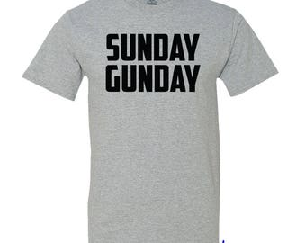 Sunday Gunday - Tee Shirt for that second amendment believer