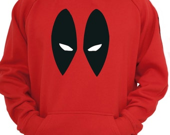 DEADPOOL Antihero Eyes Red Adults Hoody