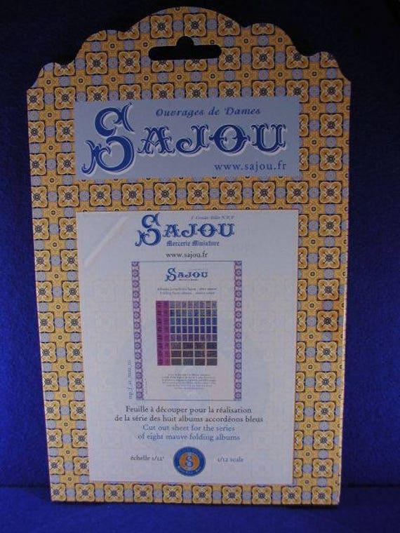 Sajou-miniature goods, storage boxes, boxes, Bastelkit of paper for the doll parlor, Dollhouse Miniatures, # 39101