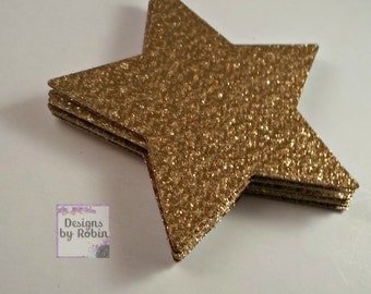 gold star shower etsy