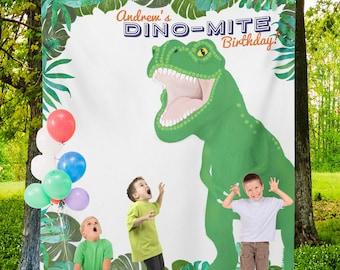 T Rex Birthday, T Rex Party Banner, T Rex Birthday Decor, T Rex backdrop, T Rex Sign/ N-T30TP AA3