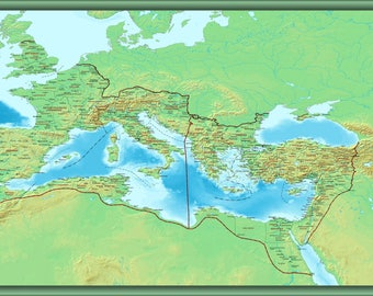 Poster, Many Sizes Available; Roman Empire Map Ca 400 Ad