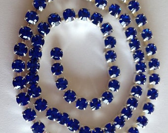 SS18 Sapphire Blue  Crystal  Rhinestone Banding Chain - High Quality Czech Stones - Radiant!