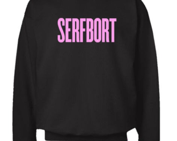 Serfbort Black Crewneck Sweater Flawless