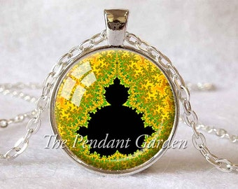 MANDELBROT SET PENDANT Math Jewelry Mandelbrot Jewelry Gift for Math Teacher Gift Fractal Jewelry Fractals Science Necklace