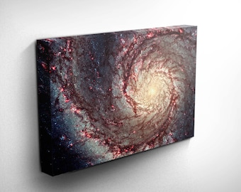 Whirlpool Original Galaxy Art - Hubble Astronaut Art Prints, Astronaut Birthday - Space Explorer - Outer Space Pictures