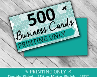 """500 PRINTING ONLY Business Cards - 2"""" x 3.5"""" 16PT UV or Matte Finish"""