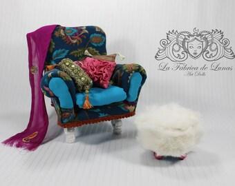 Boho armchair scale 1: 6