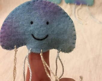 Jellyfish Finger Puppet - set of three