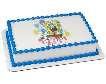 SpongeBob SquarePants™ Happy Edible Cake Topper